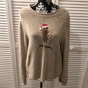 Christopher & Banks Bah Humbug Xmas Sweater XL 🎄